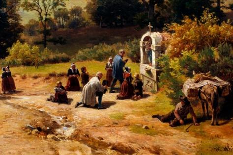 Stream and Pilgrims