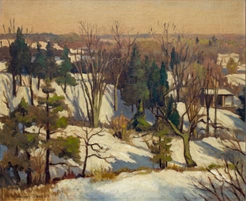 New England Landscape Snow Delbos