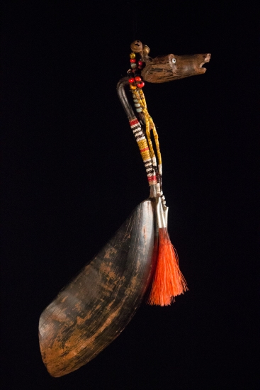 Buffalo Horn Horse Spoon 1